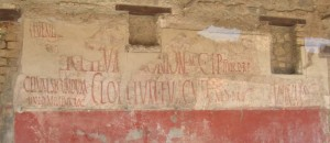 Great Story on a wall at Pompeii